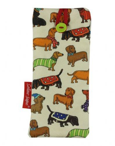Selina-Jayne Dachshund Dogs Limited Edition Designer Soft Glasses Case
